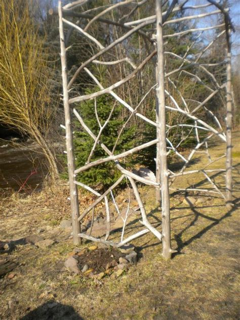 Garden Arch Made From Branches Tree Branch Arch Small Flower Garden Plans