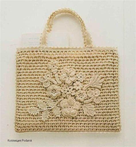ideas y esquemas para tejer bolsos o carteras el blog de bolso tejido al crochet con apliques florales realizados