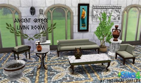 ancient living room ancient greece living room set at historical sims 187 sims 4 updates