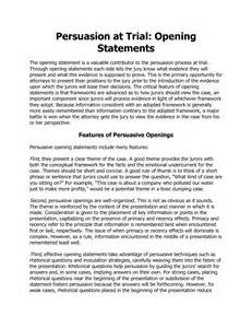 Opening Statement Template by Defense Closing Argument Images