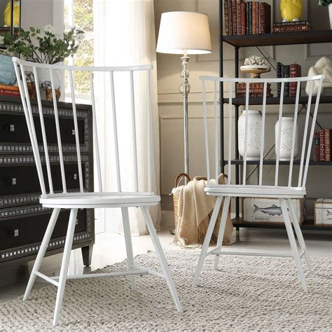 White High Back Dining Chairs Homesullivan Walker White Wood And Metal High Back Dining Chair Set Of 2 40550c Wh3a2pc The