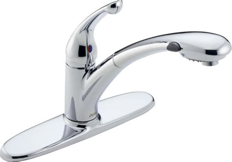 Allora Kitchen Faucet by Delta 470 Dst Chrome Signature Pull Out Kitchen Faucet
