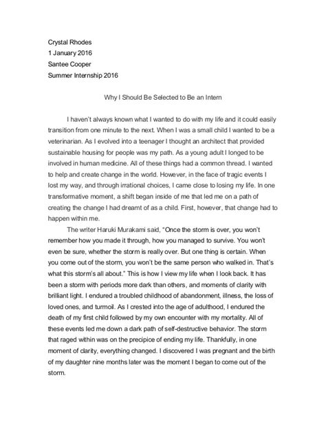 what should be in a thesis employment essay