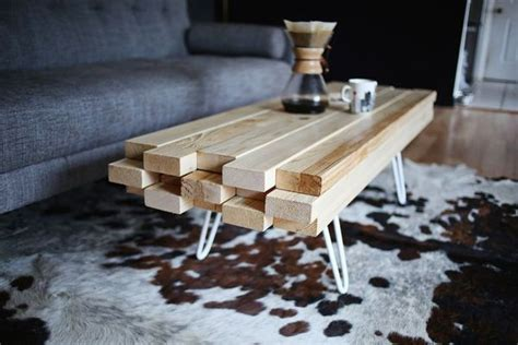 how to make a 2x4 wooden coffee table made diy