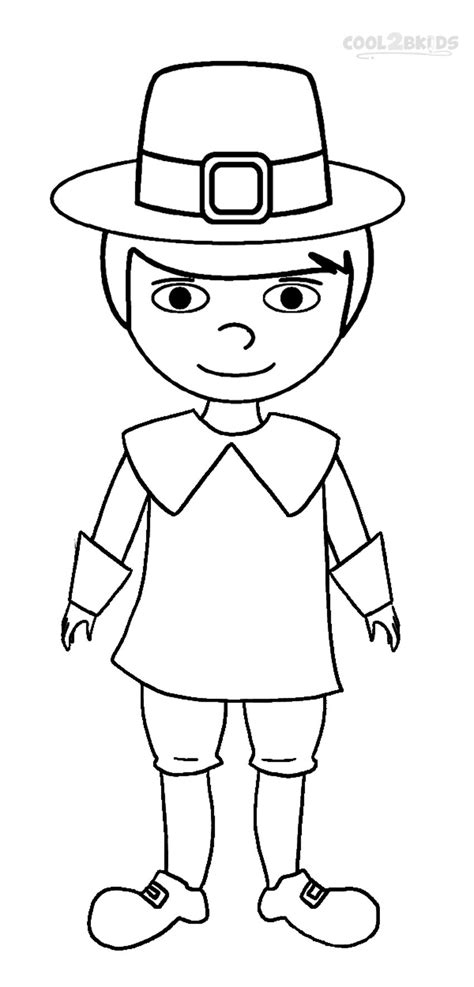 coloring page of a pilgrim girl printable pilgrims coloring pages for kids cool2bkids