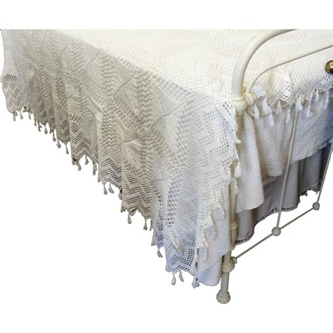 vintage coverlets antique hand crochet bedspread coverlet from