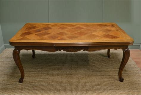 huge ft french antique walnut extending dining table