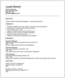 finance resume exles