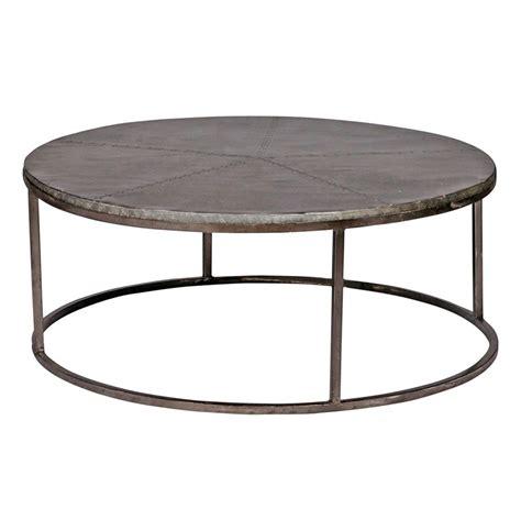 Zinc Coffee Table Hugo Industrial Loft Antique Zinc Hammered 42 Quot D Coffee Table
