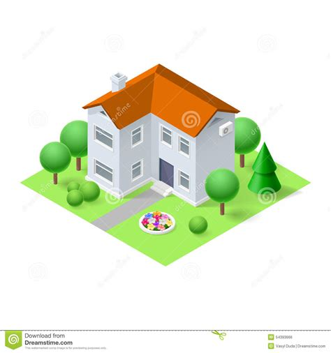 isometric home stock vector image 54393666