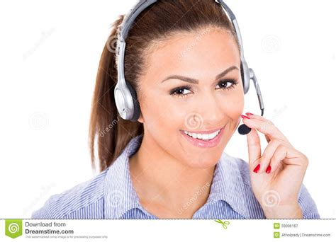 Staff Help Desk by Beautiful Customer Service Representative Or