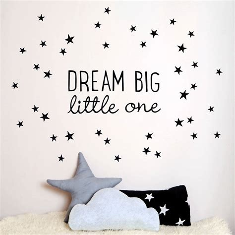 Self Adhesive Wall Decoration Sticker dream big little one wall sticker by koko kids