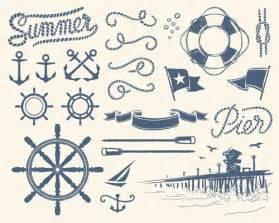 nautical design pics photos vector clip art nautical design elements set