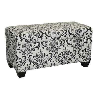 17 Best Images About Pink Purple And Black And White Damask Storage Ottoman