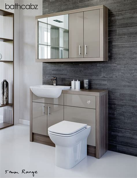 Latte Driftwood Bathroom Fitted Furniture 1200mm With Fitted Bathroom Furniture Units
