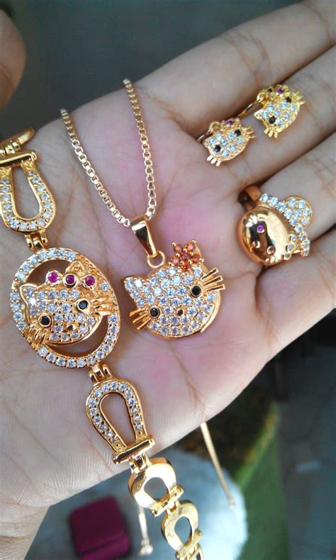 Set Perhiadan Xuping Lapis Emas 18k 5 jual set perhiasan hellokitty xuping lapis emas 18k