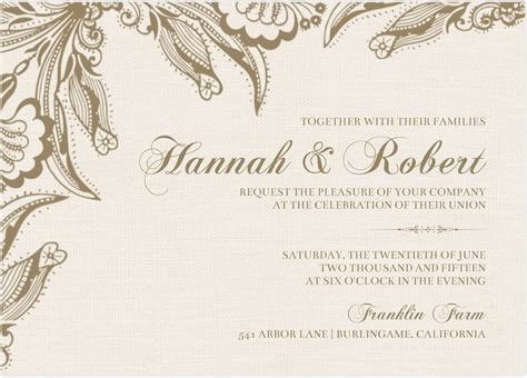 Wedding Invitation Cards by Wedding Invitation Card Design Idea With Floral Pattern