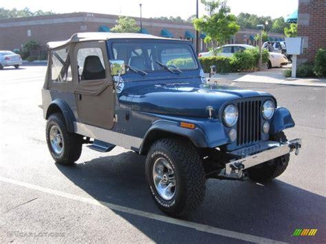 metallic blue jeep 1986 medium blue metallic jeep cj7 4x4 30816245 photo 2