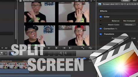 final cut pro youtube video how to split screen on final cut pro x youtube