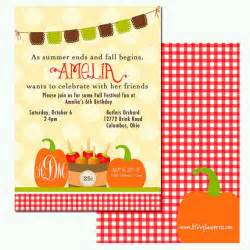 fall birthday invitation fall festival pumpkins and apples c