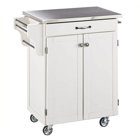Kitchen Cart Stainless Hawthorne Collections Stainless Steel Top Kitchen Cart In
