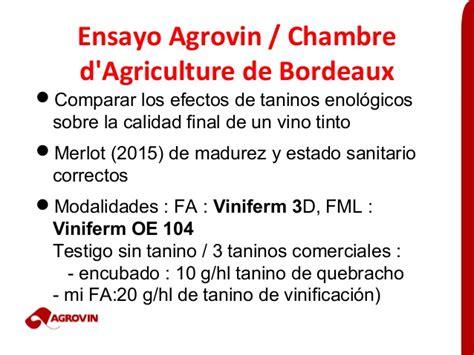 chambre agriculture bordeaux estabilizar el color de los vinos tintos comparativo de