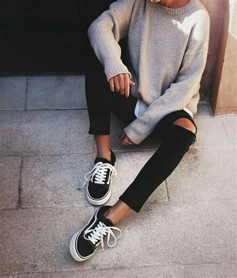 0611 Ll Ripped Polos 25 best ideas about black vans on vans ootd and vans winter shoes