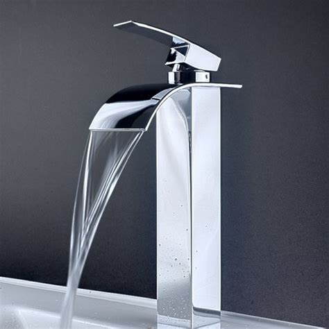contemporary bathroom fixtures low led single handle bathroom lavatory vessel faucet