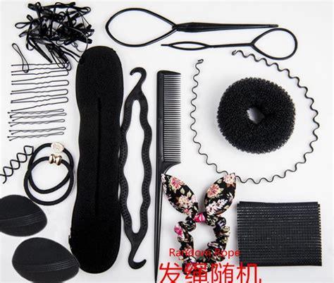 magic hair design styling tools accessories kits with bun magic hair styling tool kit foam sponge hairpins bun donut