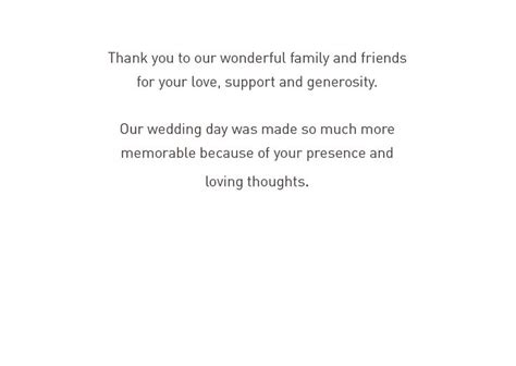 wedding anniversary thank you card wording 20 best in memory of images on wedding thank