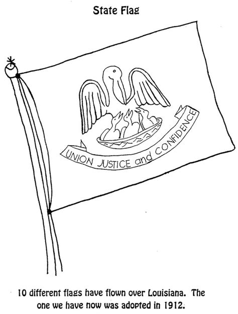 coloring page of louisiana state tree louisiana state flag coloring page coloring home