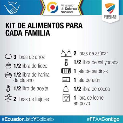 lista alimenti basici kit b 225 sico de alimentos terremoto en ecuador
