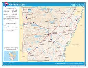 large detailed map of arkansas state arkansas state large