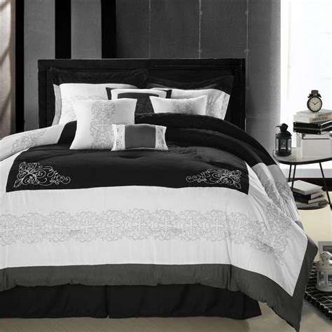 black white and gray bedding florence black gray white 8 piece queen comforter bed
