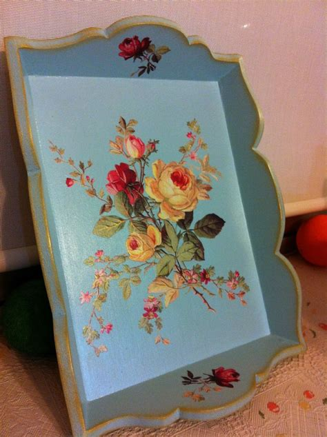 Decoupage Tray Ideas - 411 best ideas about decoupage trays on wood