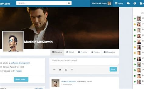 social network template html5 dayzone bootstrap social network html