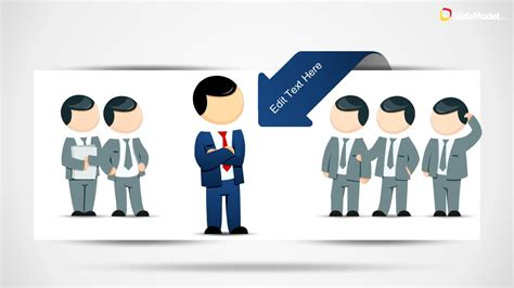 Leadership Cartoons For Powerpoint Presentations Slidemodel Powerpoint Presentation On Leadership Free