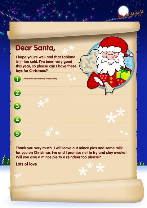 santa letters send letter santa template