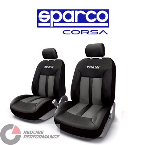 Sparco Corsa Racing Spc Sparco Seat Cover Front Set Black Redline Performance