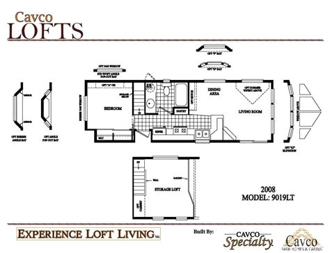 Breckenridge Park Model Floor Plans by Cavco Loft Units Park Model Homes Canada