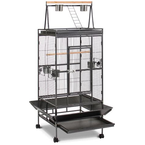 large bird cages bird cage large play top bird parrot finch cage macaw cockatoo pet supplies blk ebay