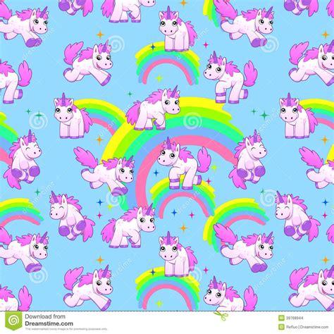 cute unicorn pattern unicorn pattern blue stock illustration image 39768944