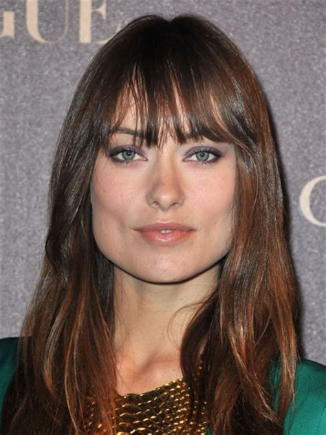 side swept bangs for a square face women hairstyles olivia wilde bangs for square face women hairstyles