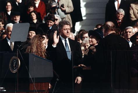 When Did Clinton Take Office file bill clinton taking the oath of office 1993 jpg