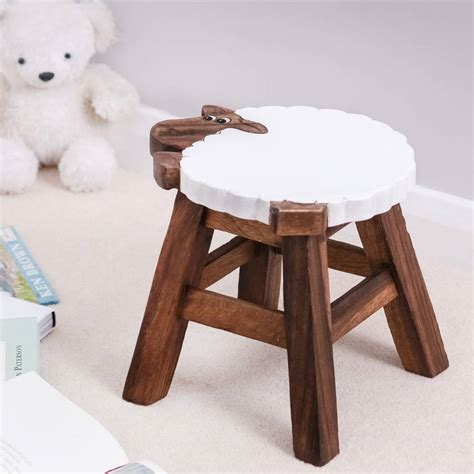 Child S Stool by Childs Wooden Sheep Stool By Thelittleboysroom