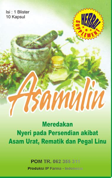 Obat Herbal Asamulin obat asamulin untuk asam urat grosir herbal murah
