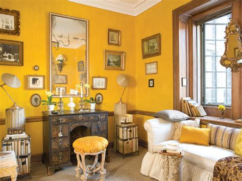 yellow room cottage living confettistyle