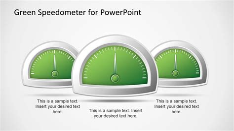 green speedometer template for powerpoint slidemodel