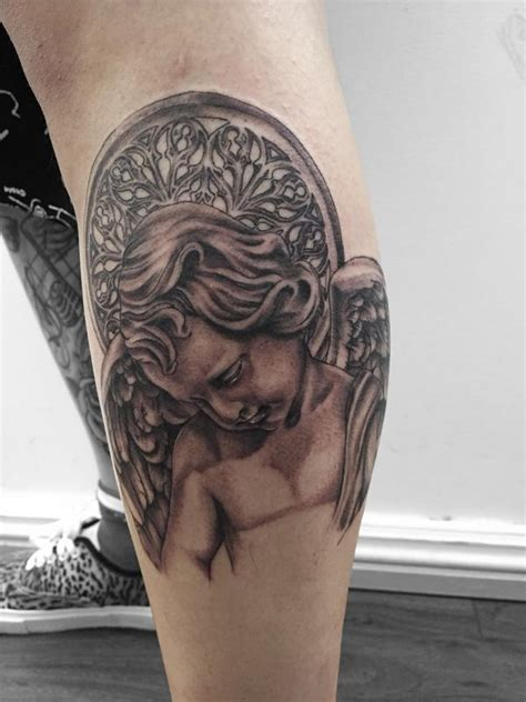 tattoo gallery college park cherub statue by edward lee tattoonow