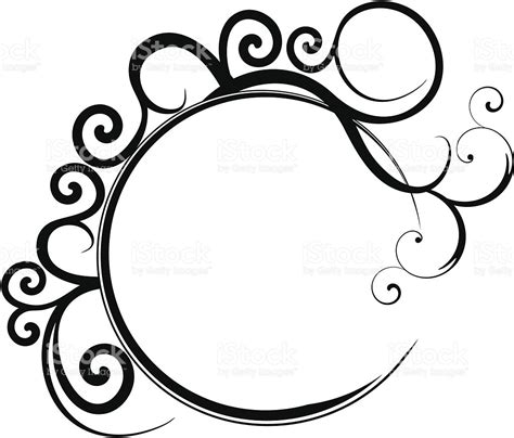 filigree pattern frame circular black filigree frame stock vector art 165534197